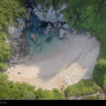La Playa de Gulpiyuri – from the air